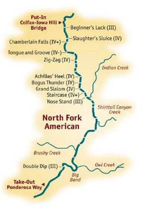 North Fork American River Rafting > Mile-by-Mile